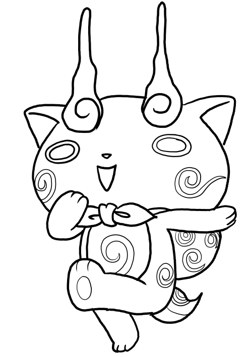 Komasan From Yo Kai Watch Coloring Pages