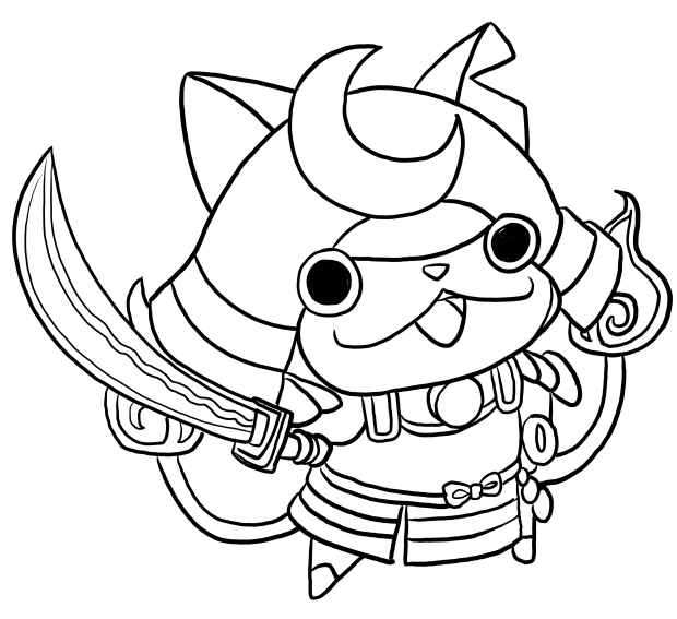 Shogunyan From Yo Kai Watch Coloring Page