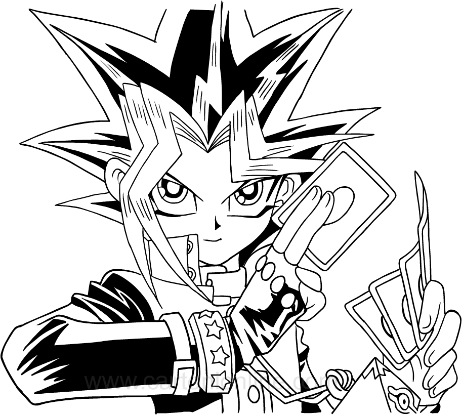Drawing Yu-Gi-Oh coloring page