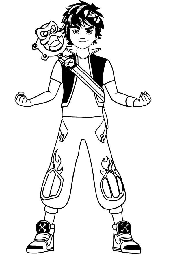 Drawing Of Zak Storm Coloring Page