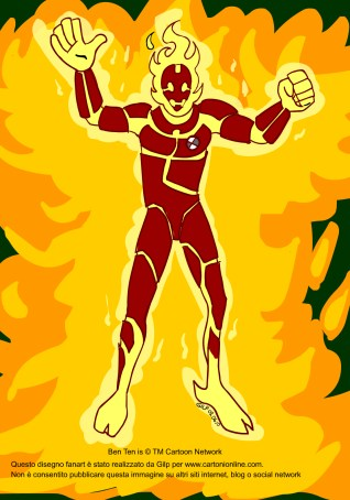 Inferno的同人画-Heatblast
