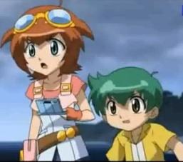 Madoka Amano e Kenta Yumiya - Beyblade Metal Fury