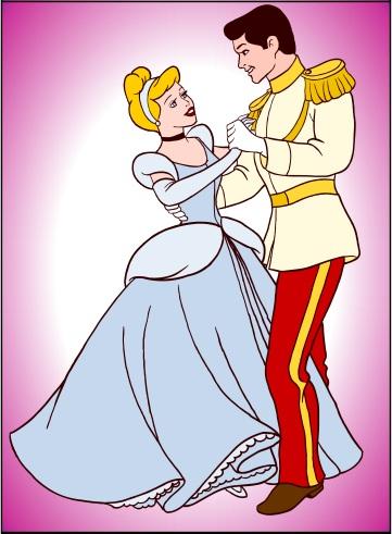 Cinderella tanssii prinssin kanssa