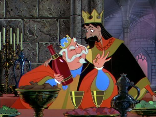 King Stefano and King Umberto - The sleeping beauty in the woods