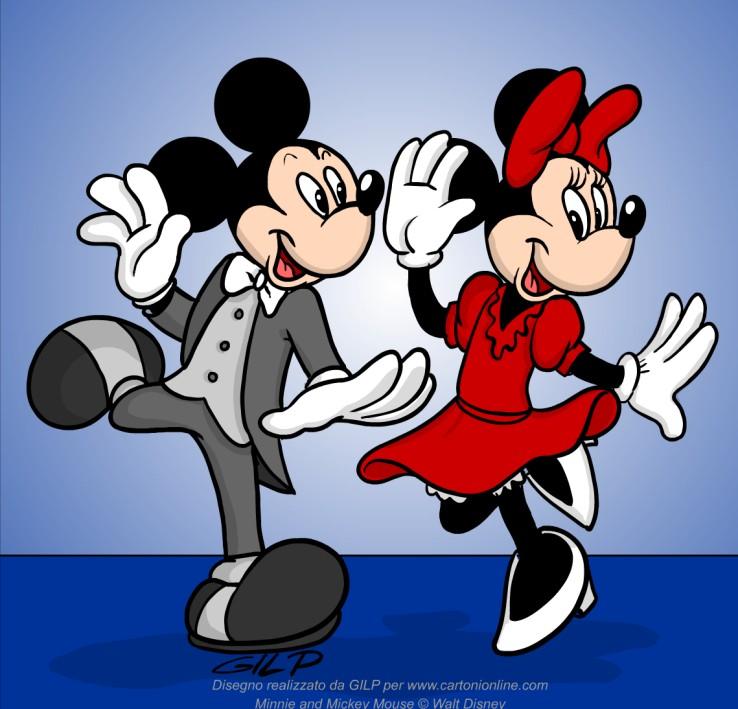 Minnie e topolino ballerini