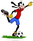 Goofy plays football