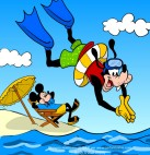 Image of Goofy at the sea