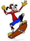 Goofy image on skateboard