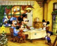 Disney images sfondo walt disney natalizio con topolino e minnie