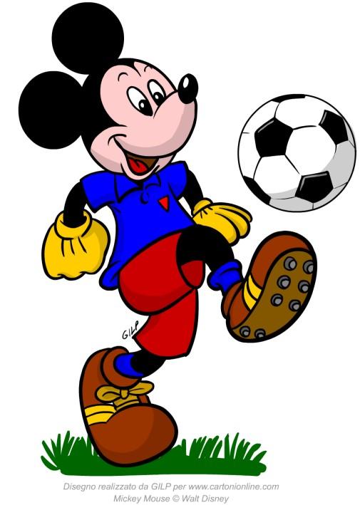 Topolino calciatore