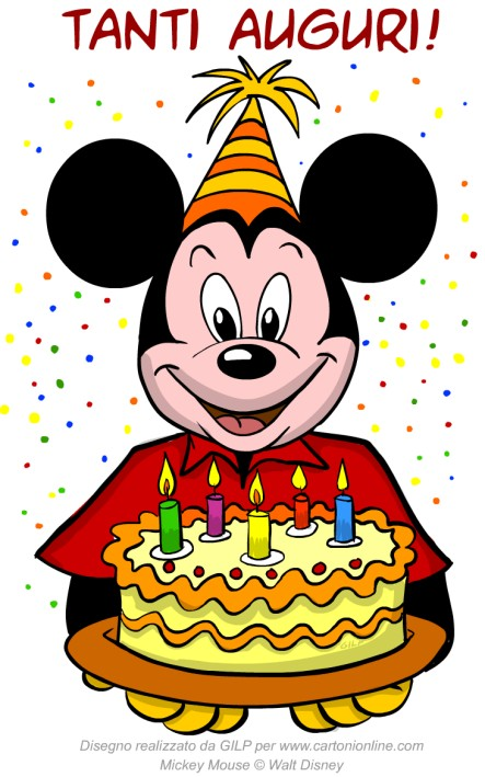 Molto Topolino auguri di buon compleanno LO76