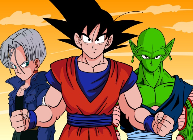 Dragon Ball Z - Trunks, Goku. Junior