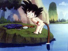 Goku bambino con la coda