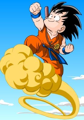 Goku op de cloud