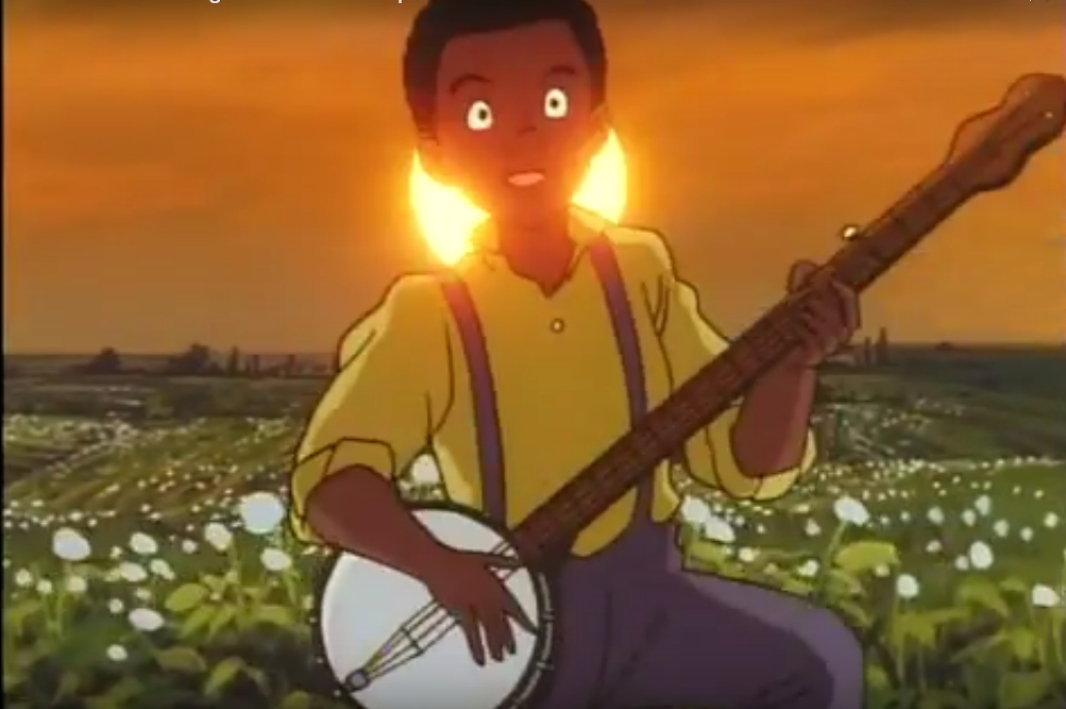 ビルがバンジョーを演じる-アニメシリーズのジーニーのためのコットンフレーク