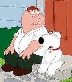 Peter Griffin e il cane Brian
