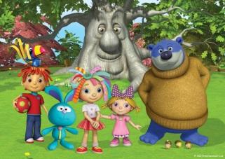 Celeste, Mino, Toppolo, Rosie, il signor Quercia, Lola e Grande Orso - Insieme a Rosie