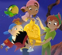Jake, Izzy e Cubby insieme a Peter Pan