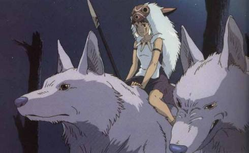 La princesse Mononoke et les loups