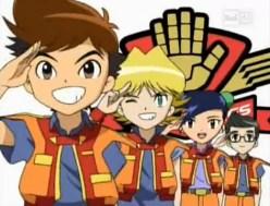 La squadra dei Red Wing dei Machine Robo Rescue