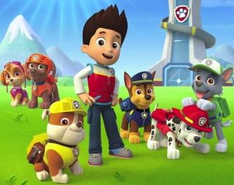 Rider e i simpatici cuccioli Paw Patrol