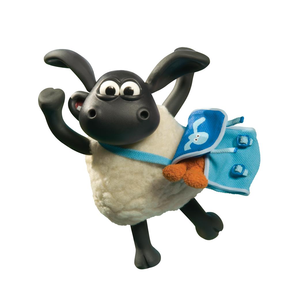 Sheep nero sheep fiore mangiare carattere nero cartone animato