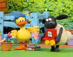 el cordero Timmy y el pato Yabba