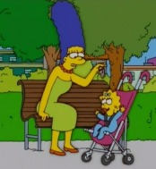 Marge and Maggie Simpson