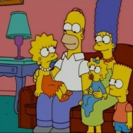 Homer Simpson and his family