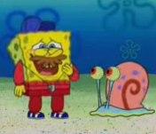 Spongebob with a mustache