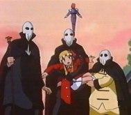 Dokter Scarecrow en zijn handlangers ontvoeren Rika Chan