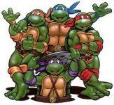 Ninja turtles - Leonardo, Michelangelo, Raphael and Donatello
