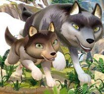 De kleine wanji-wolf