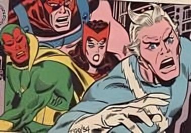 Quicksilver, Wanda, Visione e Golia