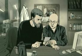 Vals con Bashir - Ari muestra una foto de él a uno de sus antiguos camaradas
