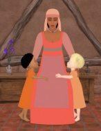 De natte verpleegster, Azur en Asmar