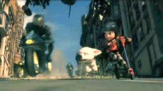 Bolt e Penny in una scena della finction