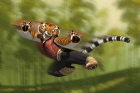 Tigre dans une pose de Kung Fu