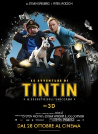 De poster van de film The Adventures of Tintin - the secret of the unicorn