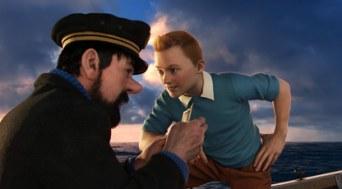 Tintín y el Capitán Haddock - Las aventuras de Tintín - el secreto del unicornio