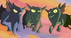 Os diabinhos Astarotte, Farfaricchio e Scarapino