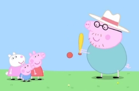 Peppa Pig, George, Susy Sheep og Papa Pig