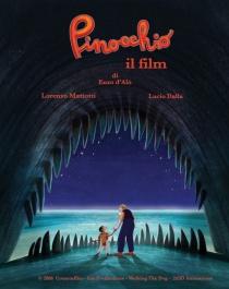 Italiaanse poster van Pinocchio, de film van Enzo D'Alò