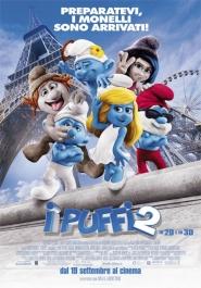 El cartel italiano de la película Los Pitufos 2