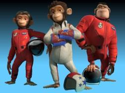 Space Chimps the monkey Ham III, Luna y Titan