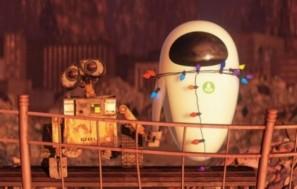 Wall-e y Eve tomadas de la mano