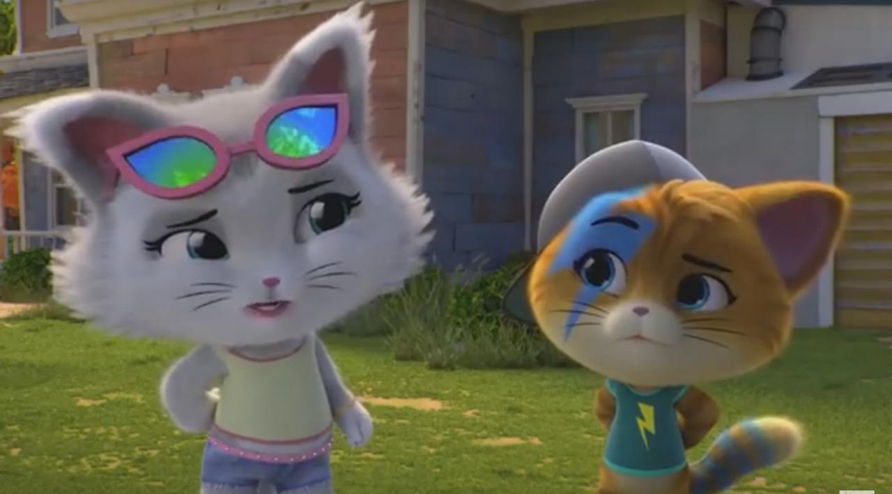 El gato inteligente y dinámico Milady y Lampo, el líder de los Buffycats - 44 gatos - la serie animada