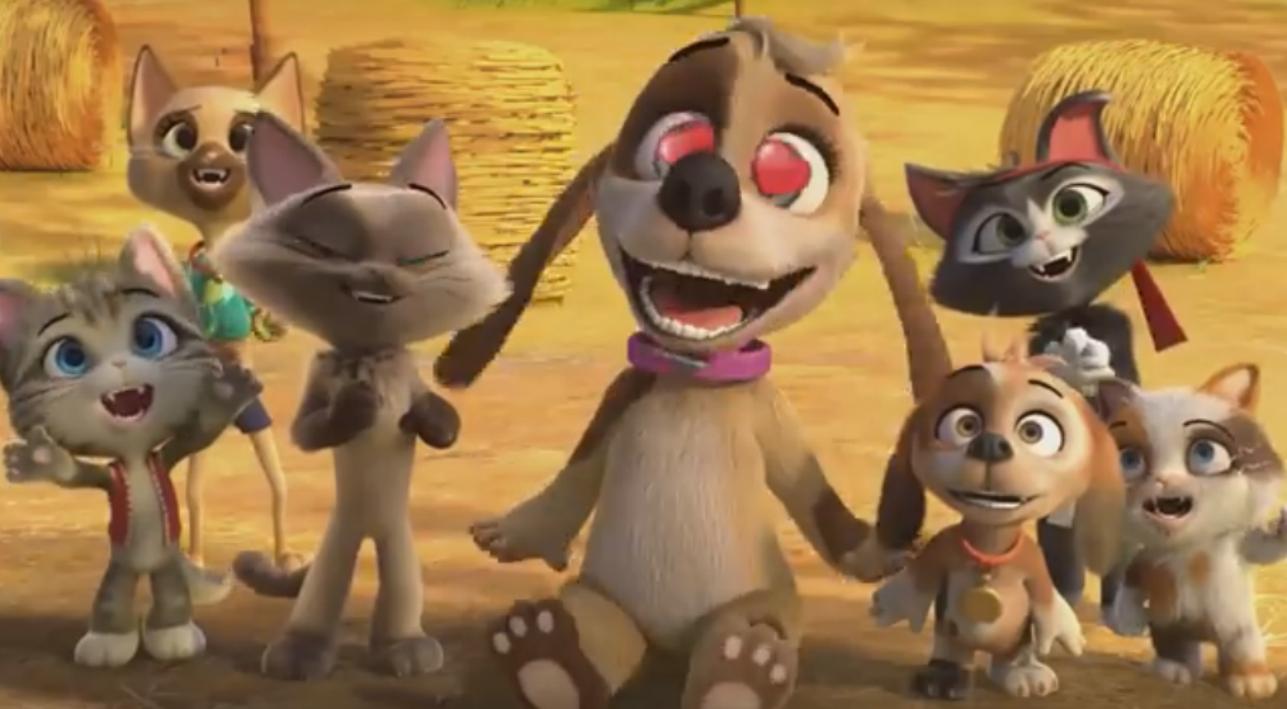 Los gatos y perros del vecindario - 44 gatos - la serie animada