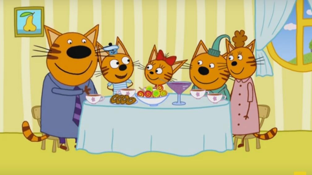 A Família Kid-E-Cats - Doces gatinhos reunidos à mesa