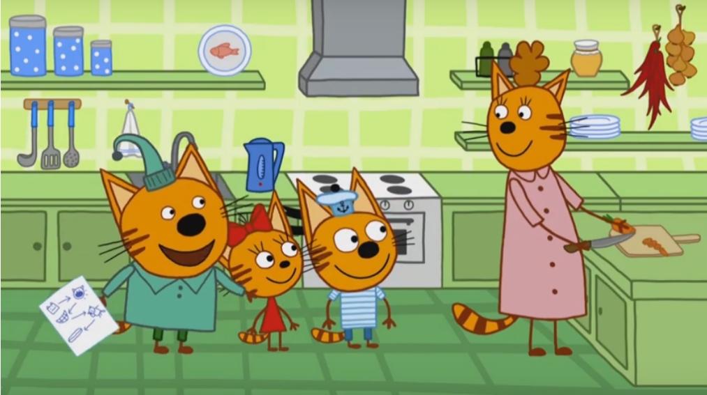 Mamma Gatta e os gatinhos Pudim, Chica e Biscotto